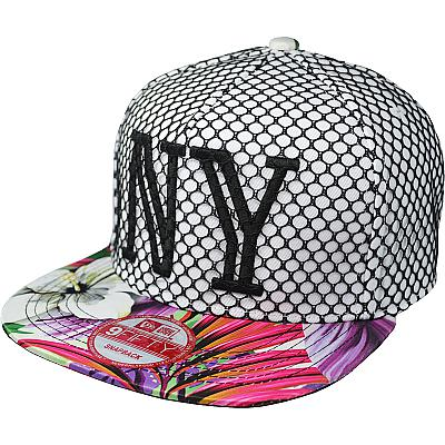 Купить Гламур New York white / flowers / NY black logo интернет магазин