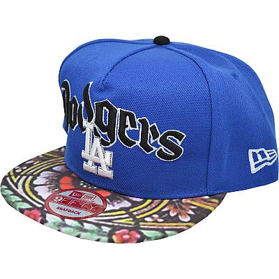 Купить Гламур LA Dodgers blue/flowers/black интернет магазин