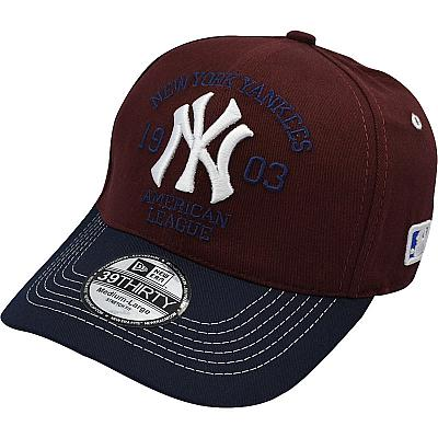 Купить Бейсболки New York без застежки American league vinous / dark-blue интернет магазин