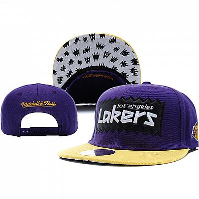 Купить Кепки спорт NBA Los Angeles Lakers purple/yellow интернет магазин