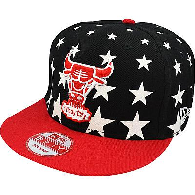 Купить Кепки спорт Chicago Bulls black / red / grey / white stars интернет магазин