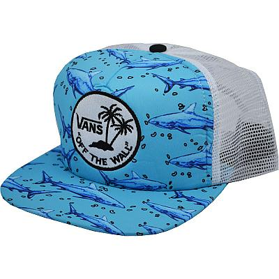 Купить Гламур Vans off the wall shark blue/white интернет магазин