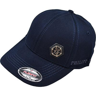 Купить Бейсболки Philipp Plein dark-blue / metal logo интернет магазин