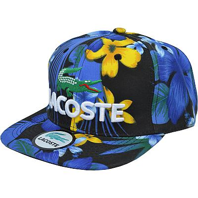 Купить Гламур Lacoste flowers blue/black/yellow интернет магазин