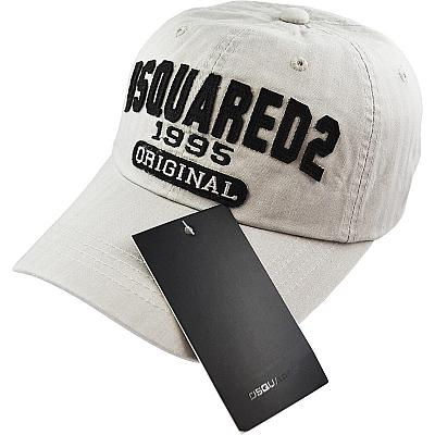 Купить Бейсболки Dsquared Original 1995 light-grey / black logo интернет магазин