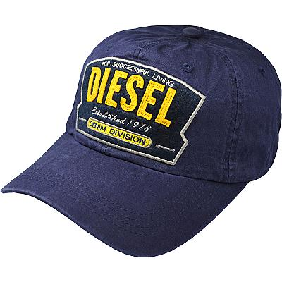 Купить Бейсболки Diesel Denim Devision dark-blue интернет магазин