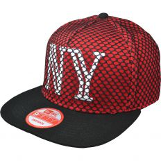 Купить New York black grid / red / white logo интернет магазин