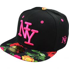 Купить New York детская black / flowers /pink logo интернет магазин