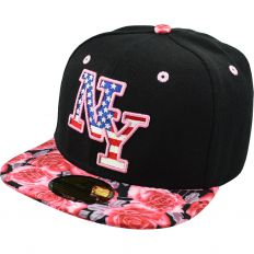 Купить New York детская black / flowers / American logo интернет магазин