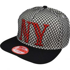 Купить New York black grid / white / red интернет магазин