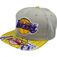 Купить Lakers grey / yellow интернет магазин
