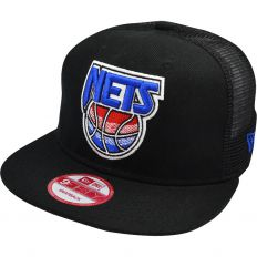 Купить NBA Brooklyn Nets black / blue logo интернет магазин