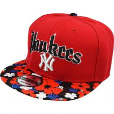 Купить New York Yankees red / flowers интернет магазин