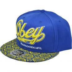 Купить Obey Propaganda MFG blue / yellow интернет магазин
