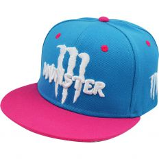 Купить Monster Energy blue / pink / white logo интернет магазин