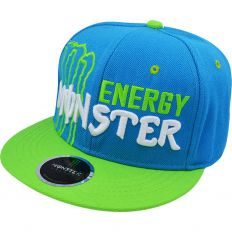 Купить Monster Energy blue / green / white logo интернет магазин