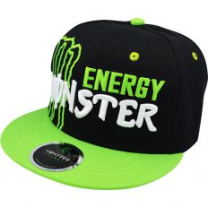Купить Monster Energy black / green / white logo интернет магазин