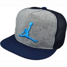 Купить Jordan детская grey / dark-blue / black / blue logo интернет магазин