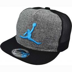 Купить Jordan детская grey / black / blue logo интернет магазин