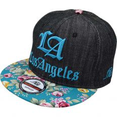 Купить LA Dodgers Los Angeles black jeans / flowers интернет магазин