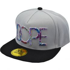 Купить Dope grey / flowers logo / black интернет магазин