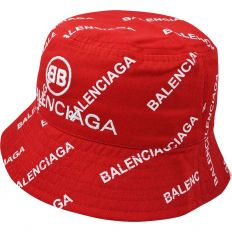 Купить Balenciaga Панама red / white logo интернет магазин