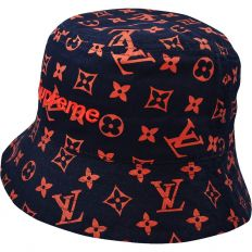Купить Supreme Панама dark-blue / orange logo интернет магазин