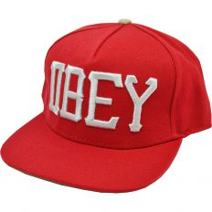 Купить Obey red / white big logo / green интернет магазин