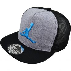 Купить Jordan детская light-grey / black / blue logo интернет магазин