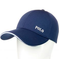 Купить Polo без застежки dark-blue / white logo интернет магазин