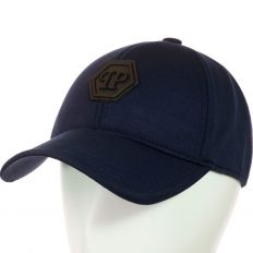 Купить Philipp Plein без застежки PP dark-blue / black logo интернет магазин