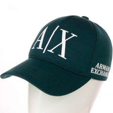 Купить Emporio Armani A/X dark-green / white big logo интернет магазин