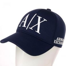 Купить Emporio Armani A/X dark-blue / white big logo интернет магазин