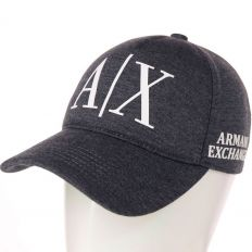 Купить Emporio Armani A/X dark-grey / white big logo интернет магазин