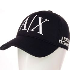 Купить Emporio Armani A/X black / white big logo интернет магазин