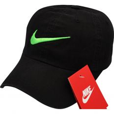 Купить Nike big green logo / black  интернет магазин