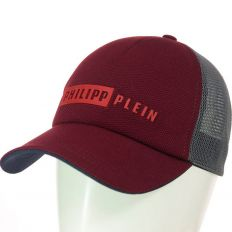 Купить Philipp Plein на липучке burgundy / dark-grey интернет магазин