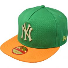 Купить New York green / orange / gold metal logo интернет магазин