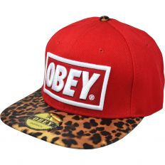Купить Obey leopard / red интернет магазин