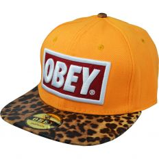 Купить Obey leopard / orange / red-white logo интернет магазин