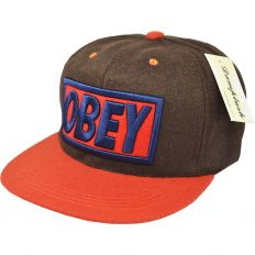 Купить Obey brown / orange / blue logo интернет магазин